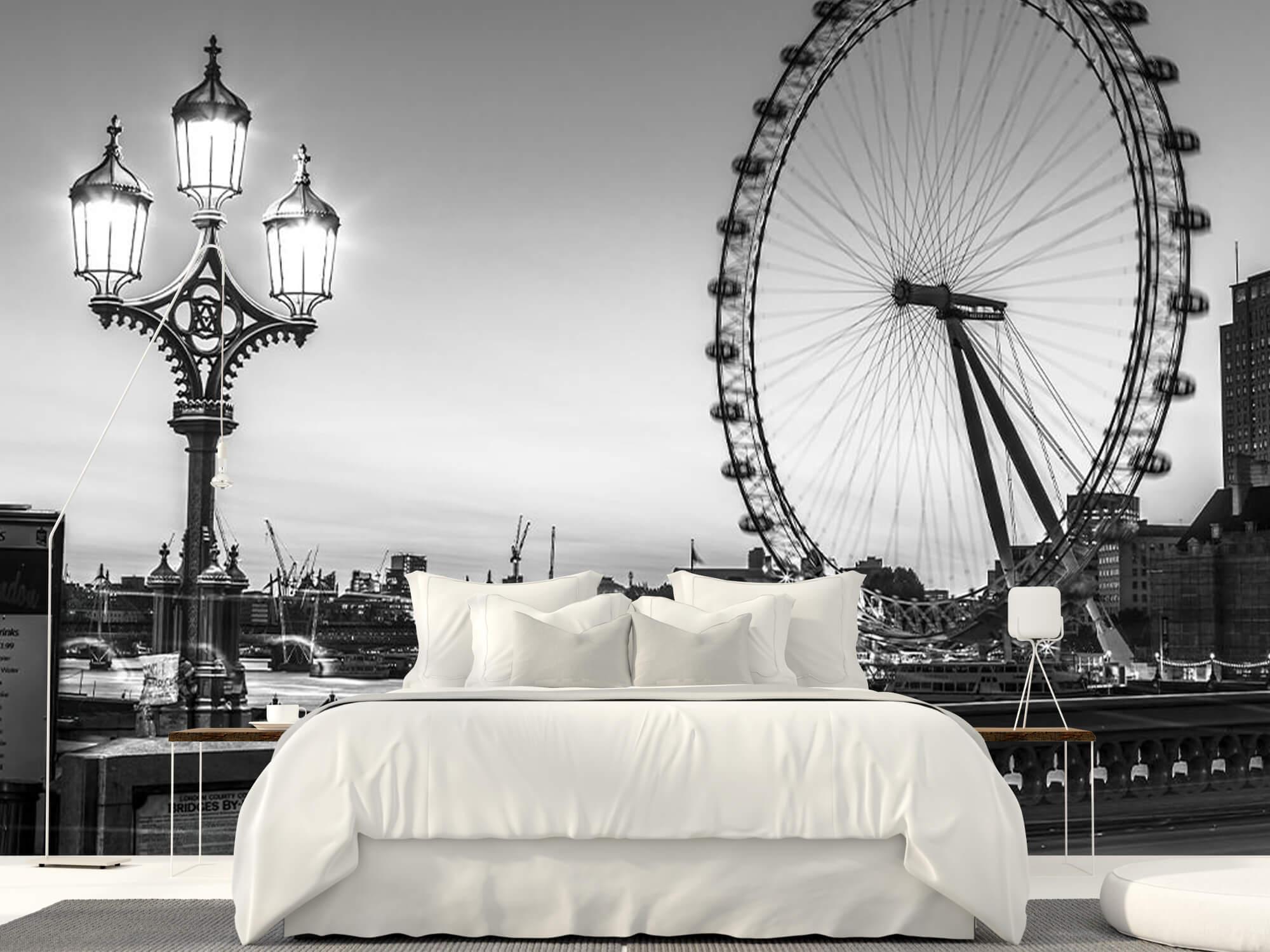 Ferris wheel black and white 10