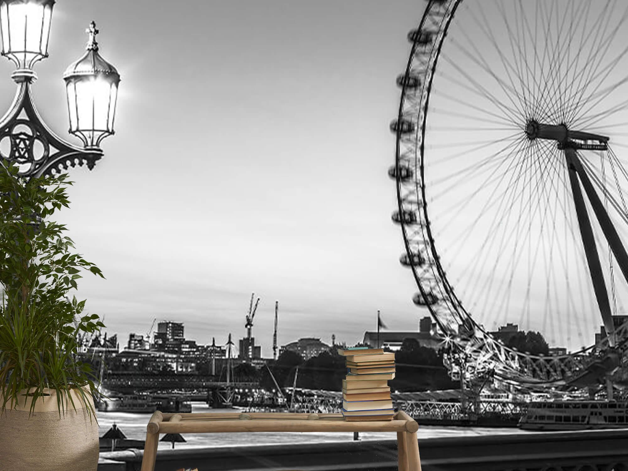 Ferris wheel black and white 16