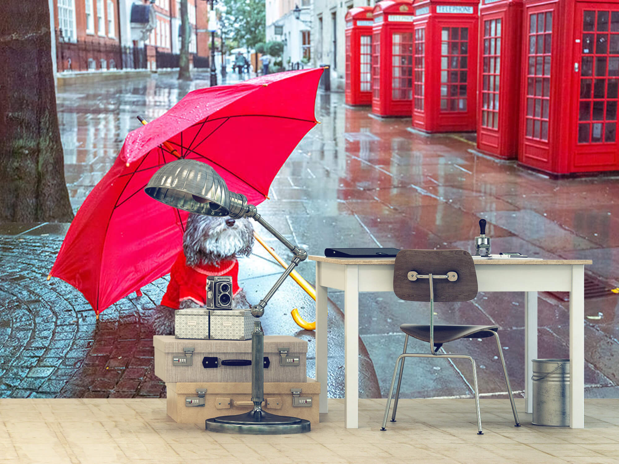 Dog with umbrella 8