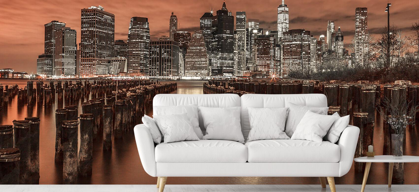 Manhattan skyline with breakwaters 3