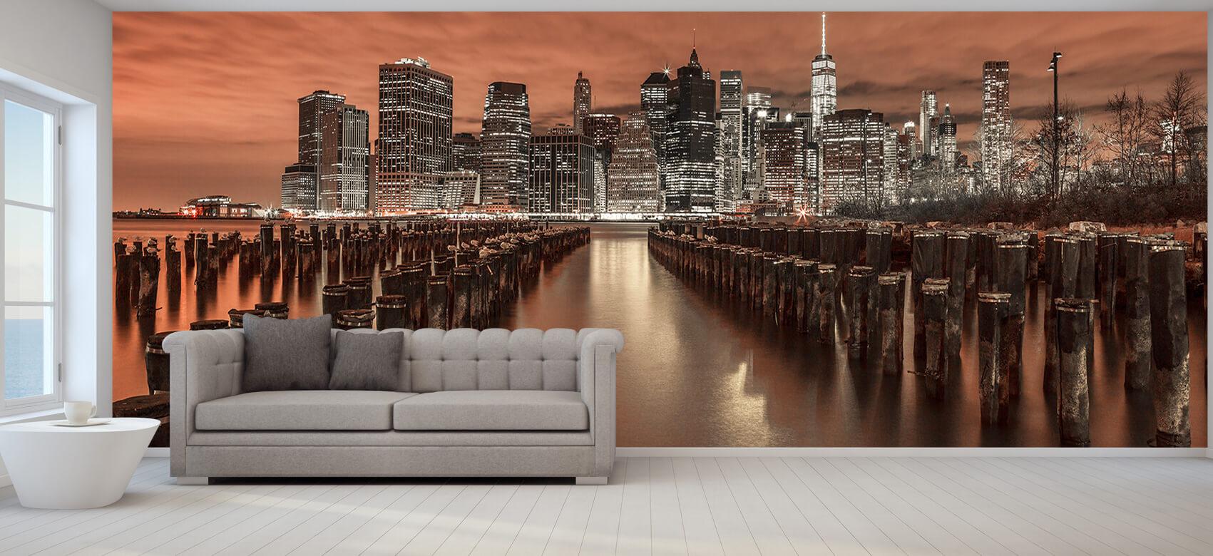 Manhattan skyline with breakwaters 5