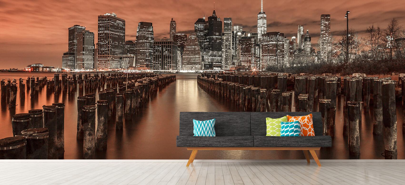 Manhattan skyline with breakwaters 7