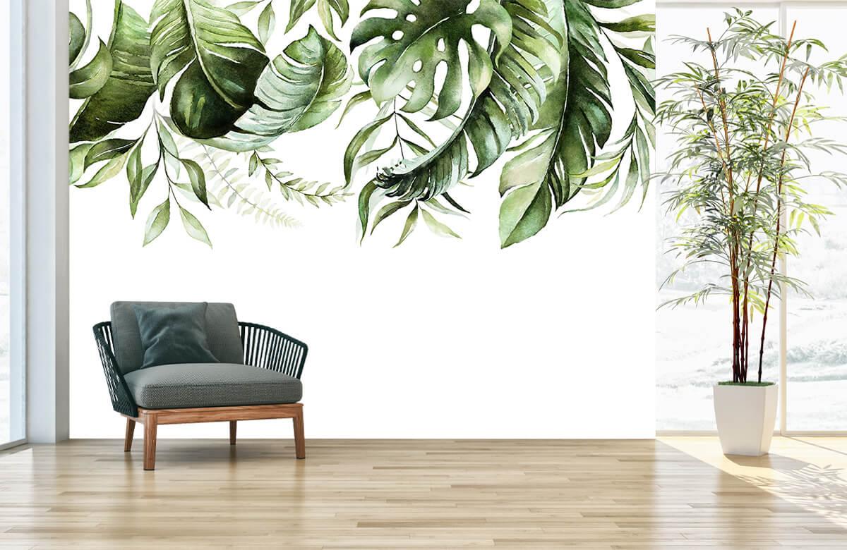 Tropical watercolour leaves 3