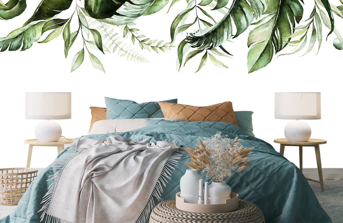 Tropical watercolour leaves 6