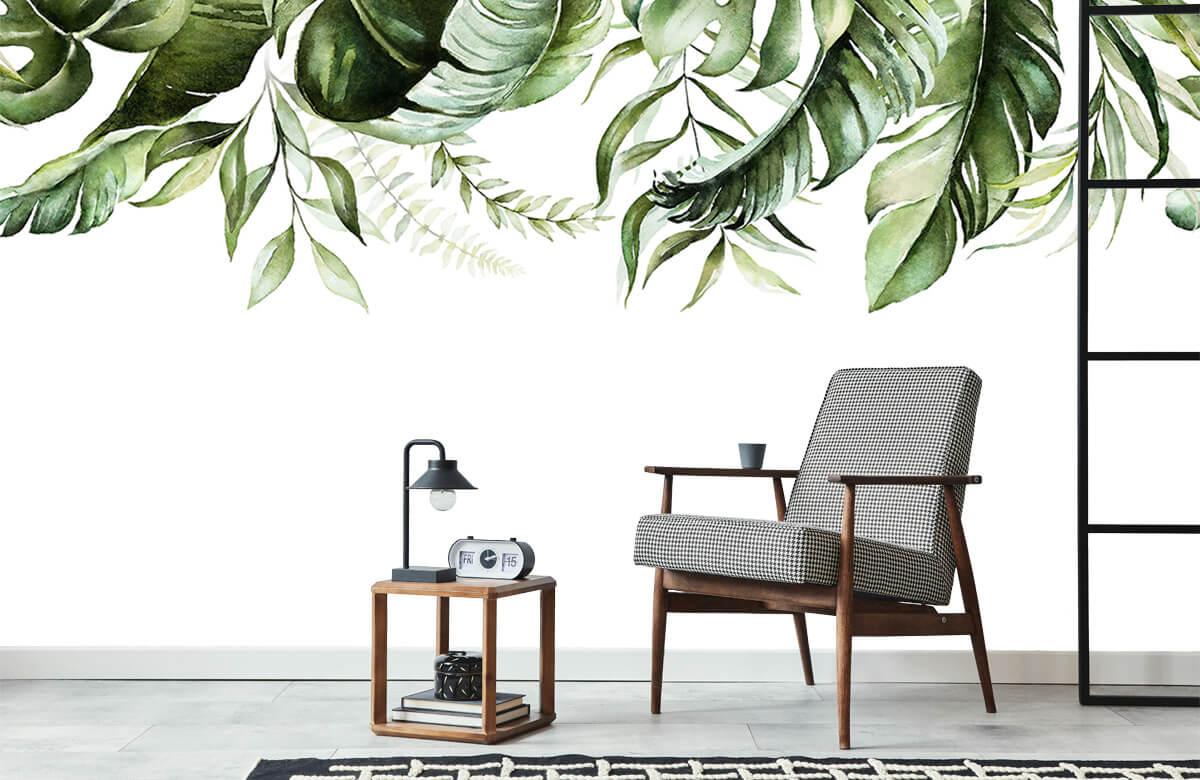 Tropical watercolour leaves 2