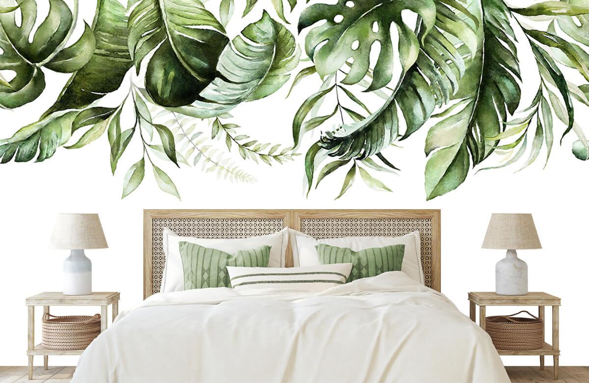 Tropical watercolour leaves 4