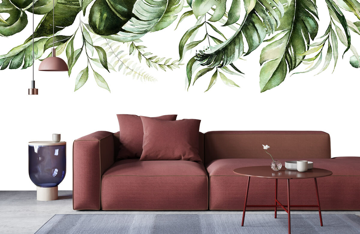 Tropical watercolour leaves 7