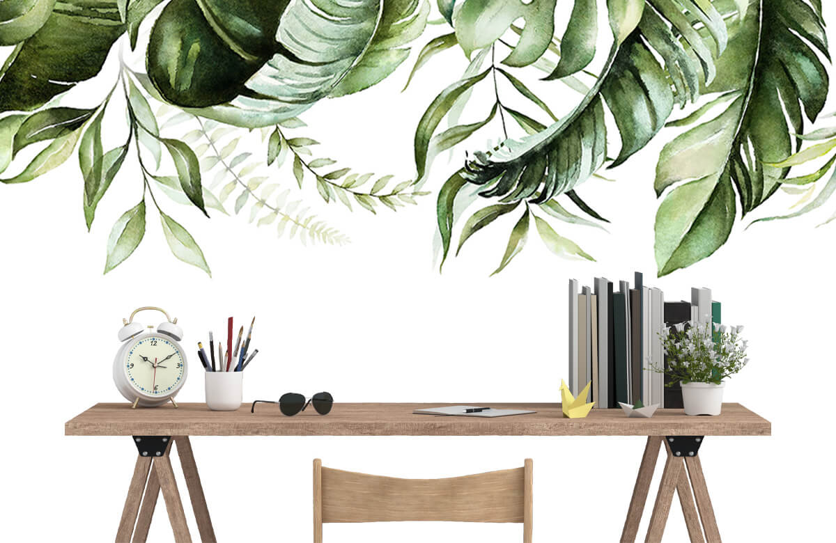 Tropical watercolour leaves 5