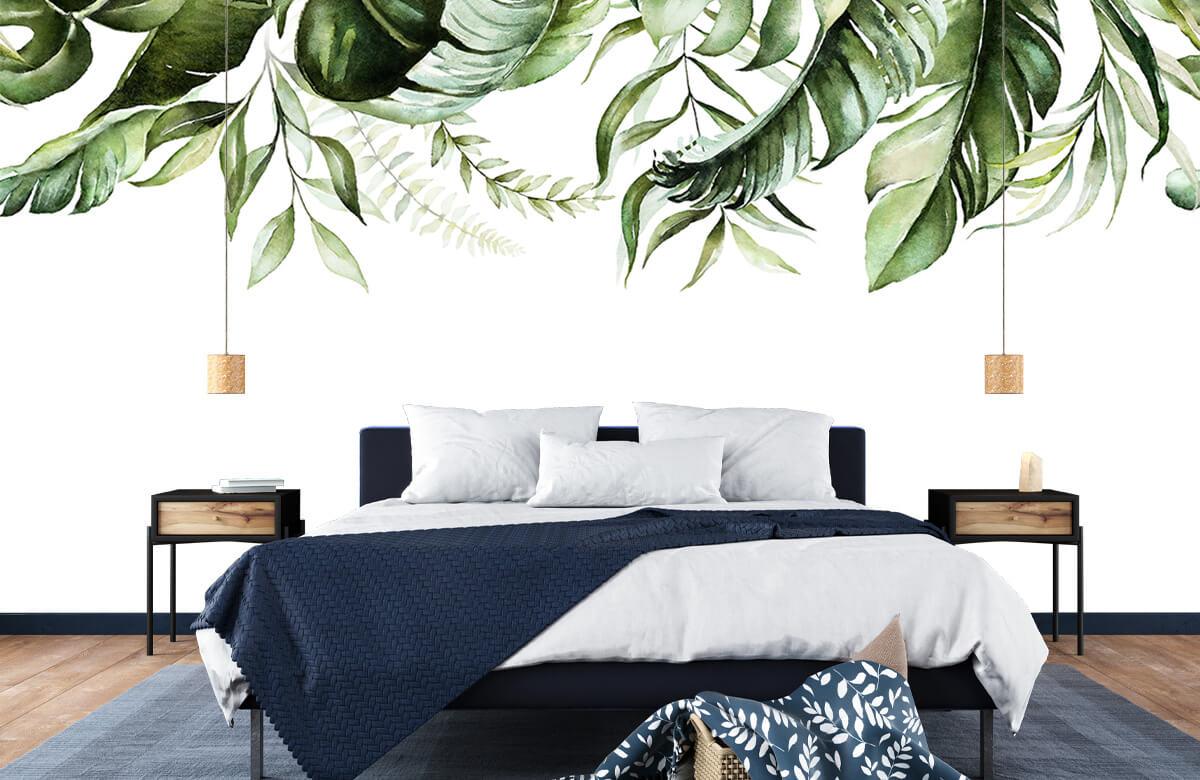 Tropical watercolour leaves 8