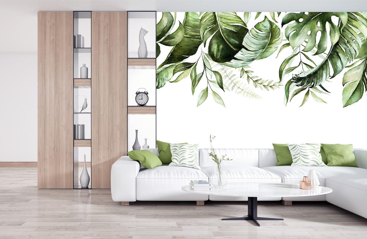 Tropical watercolour leaves 10