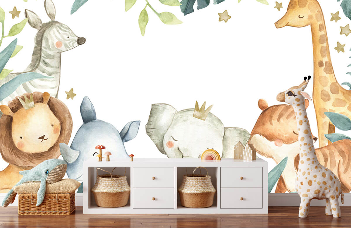 wallpaper Jungle animals mix 1