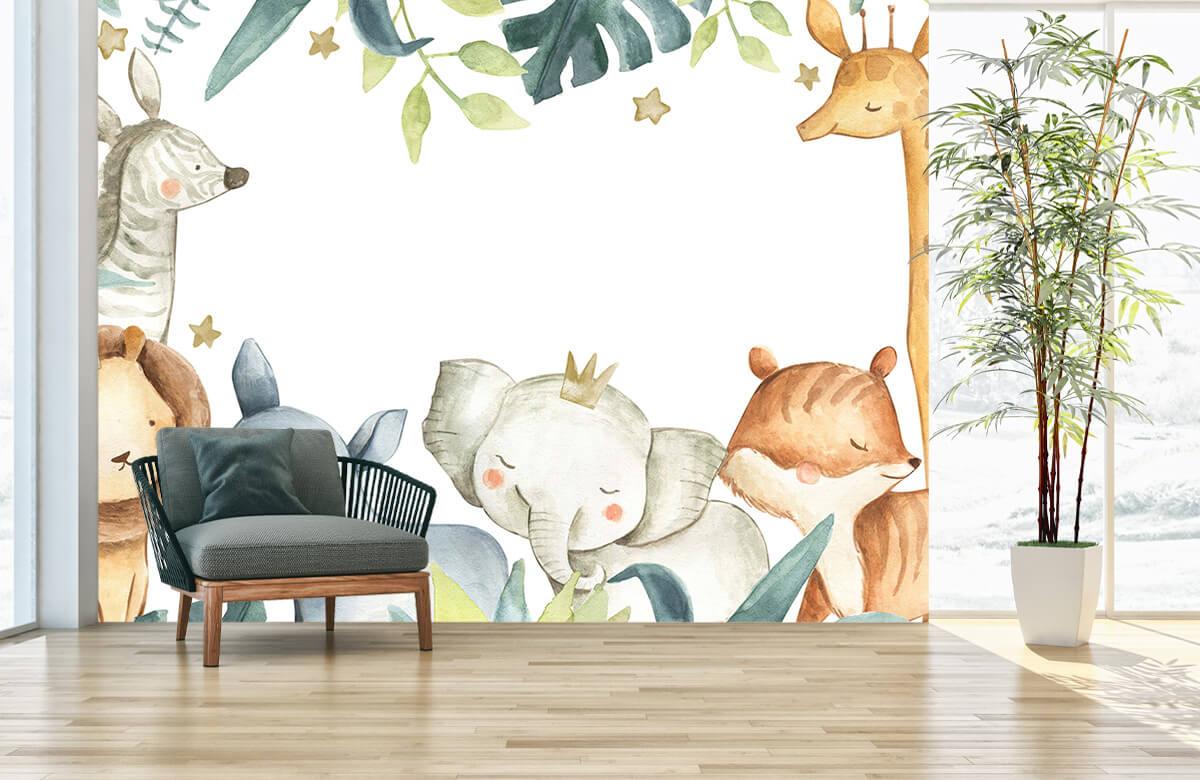 wallpaper Jungle animals mix 2