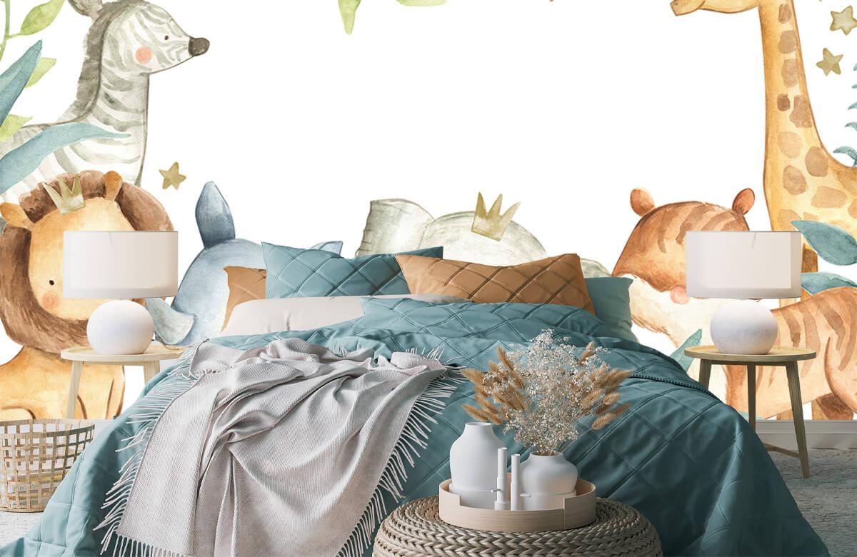 wallpaper Jungle animals mix 3