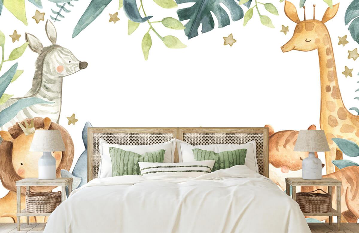 wallpaper Jungle animals mix 5