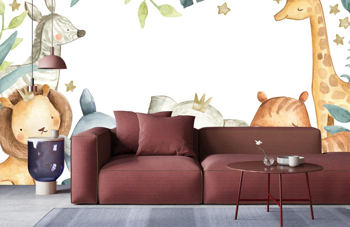 wallpaper Jungle animals mix 6