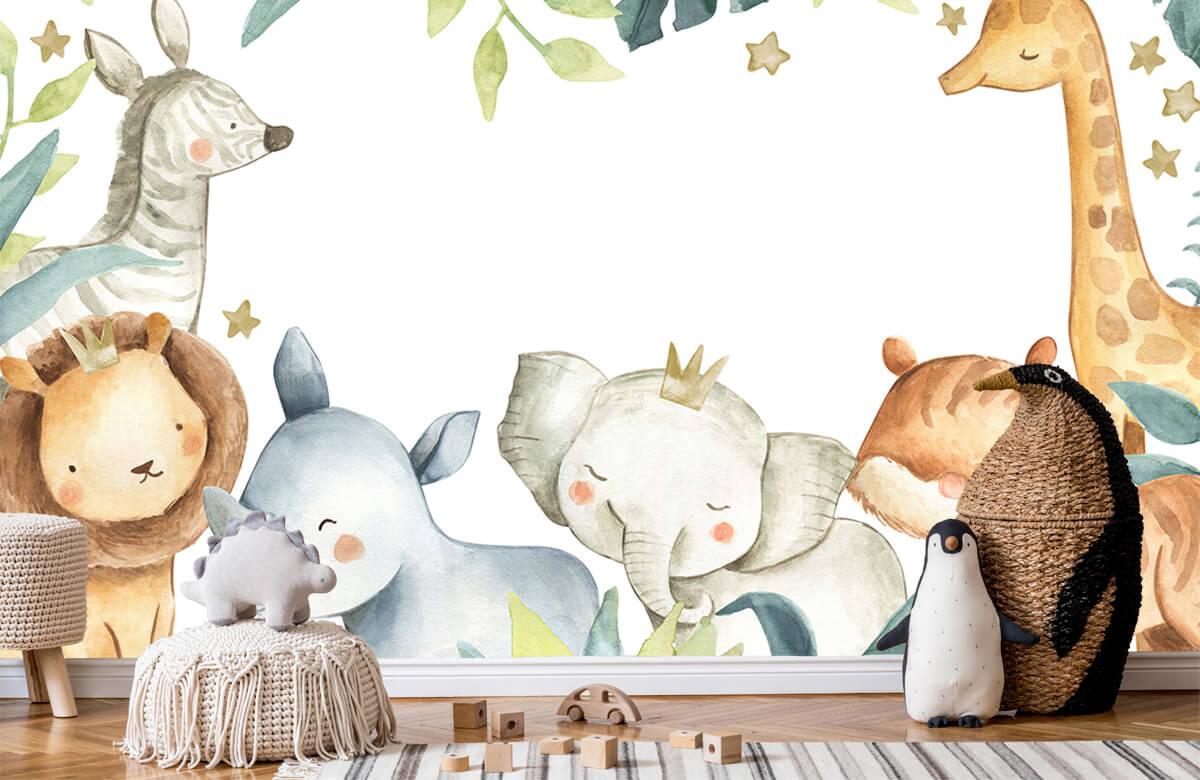 wallpaper Jungle animals mix 7