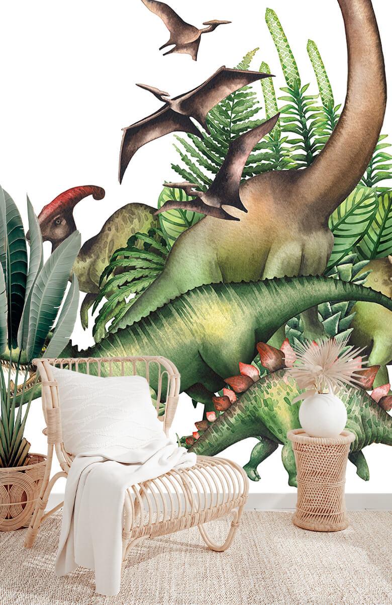 Watercolour dinosaurs 5