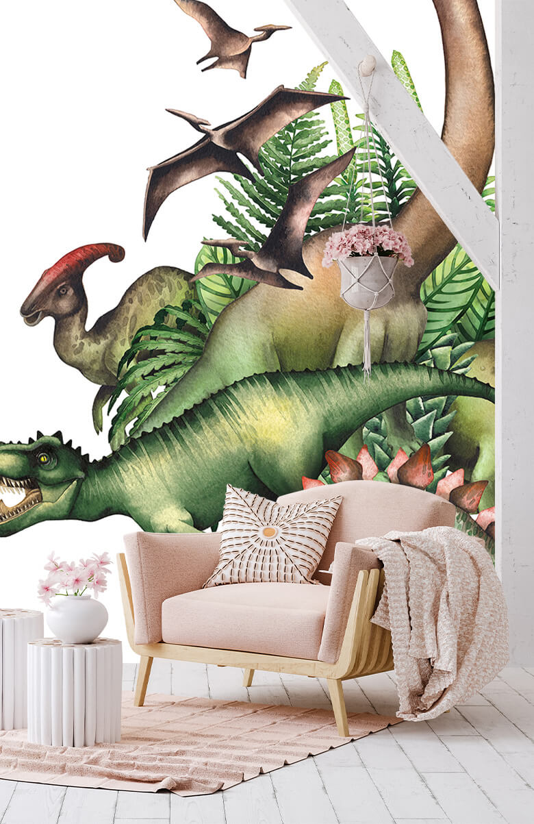 Watercolour dinosaurs 7