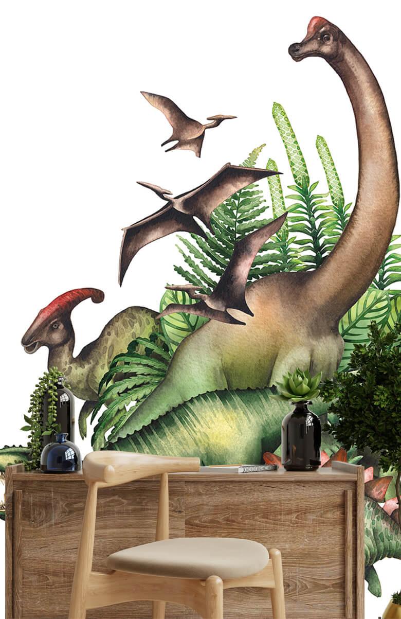 Watercolour dinosaurs 1
