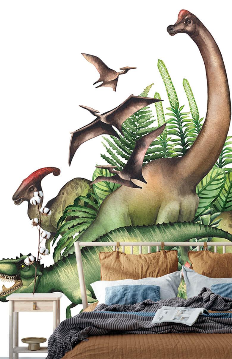 Watercolour dinosaurs 2