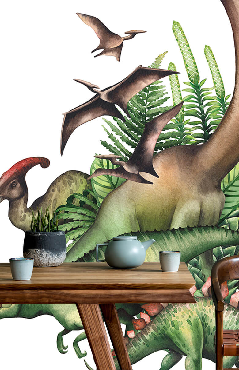 Watercolour dinosaurs 8