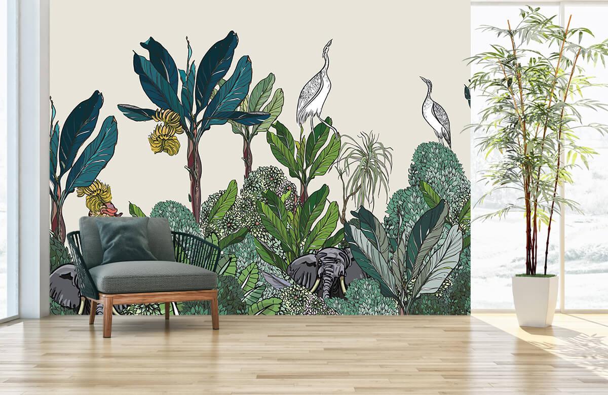 Jungle panorama with animals 1