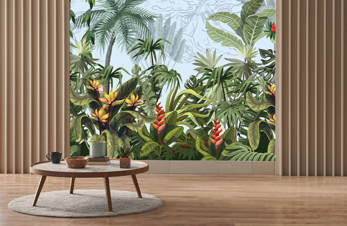 Jungle trees and flowers 4
