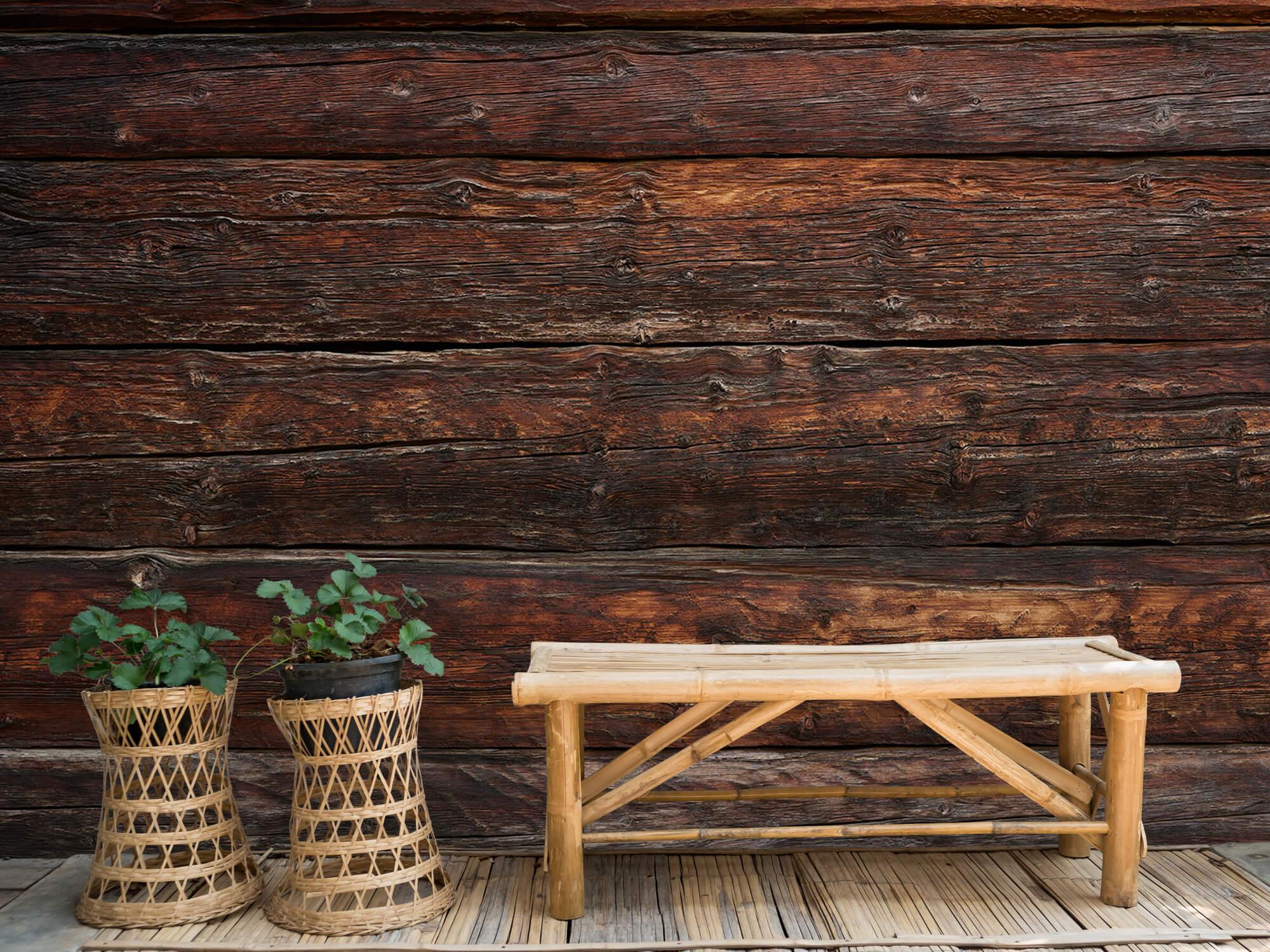 Wooden wallpaper - Coarse wood - Bedroom 4