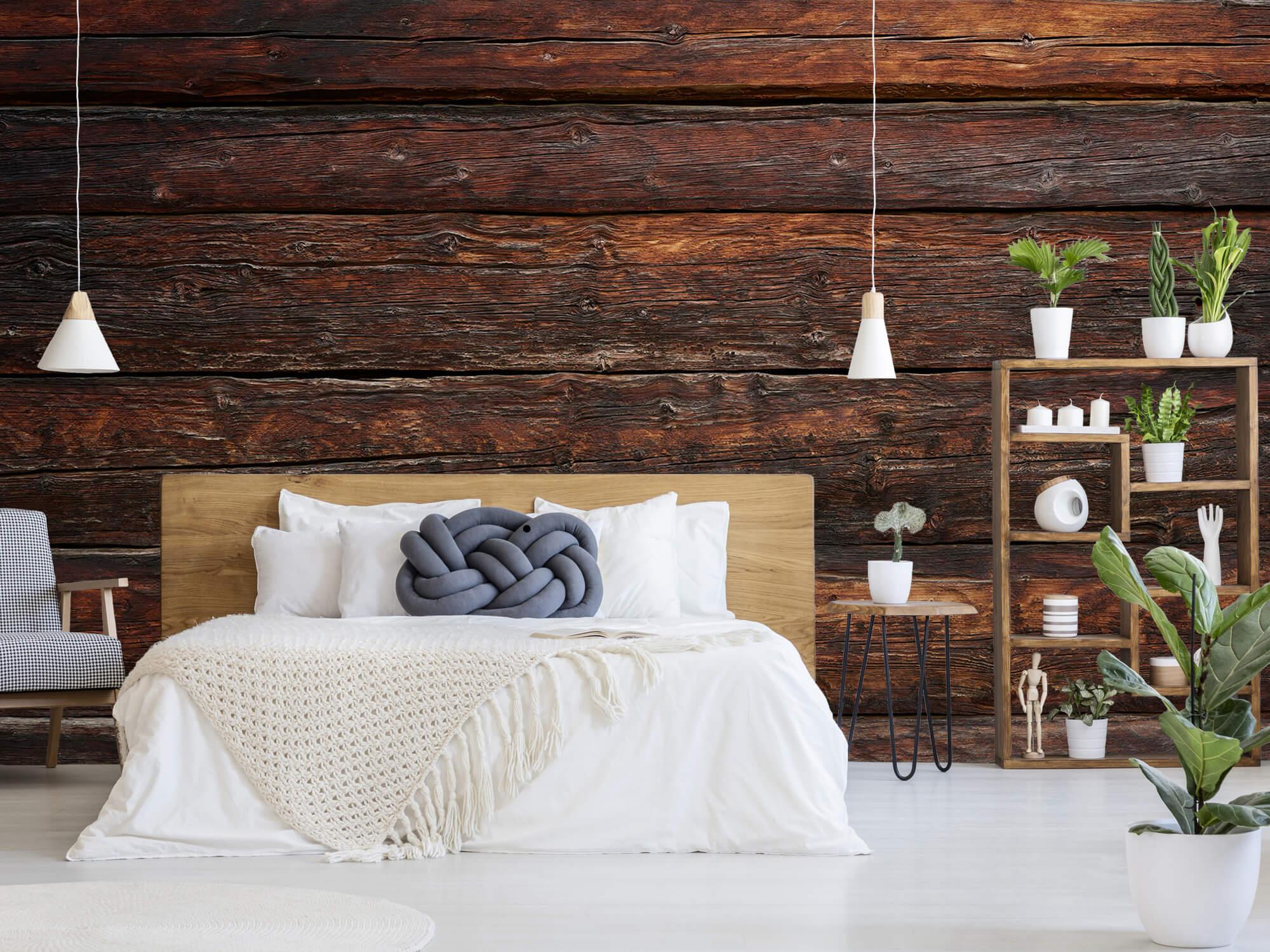 Wooden wallpaper - Coarse wood - Bedroom 6