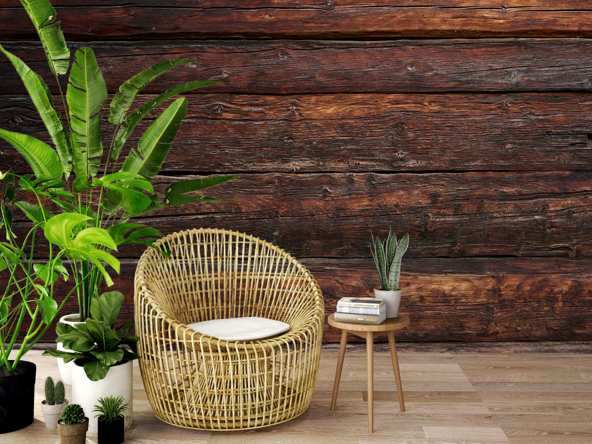 Wooden wallpaper - Coarse wood - Bedroom 10