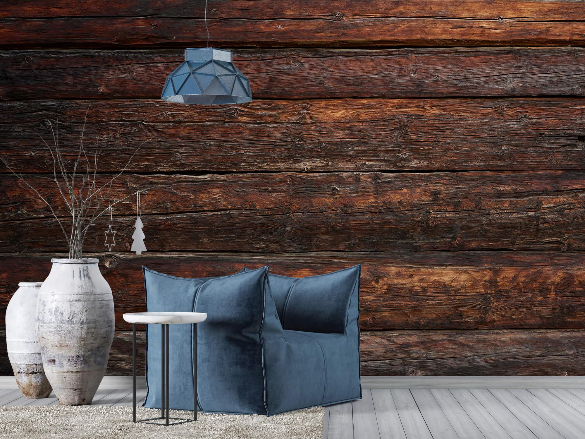 Wooden wallpaper - Coarse wood - Bedroom 5