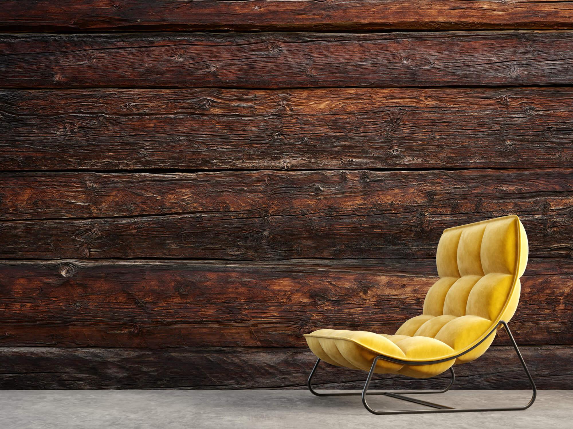 Wooden wallpaper - Coarse wood - Bedroom 1