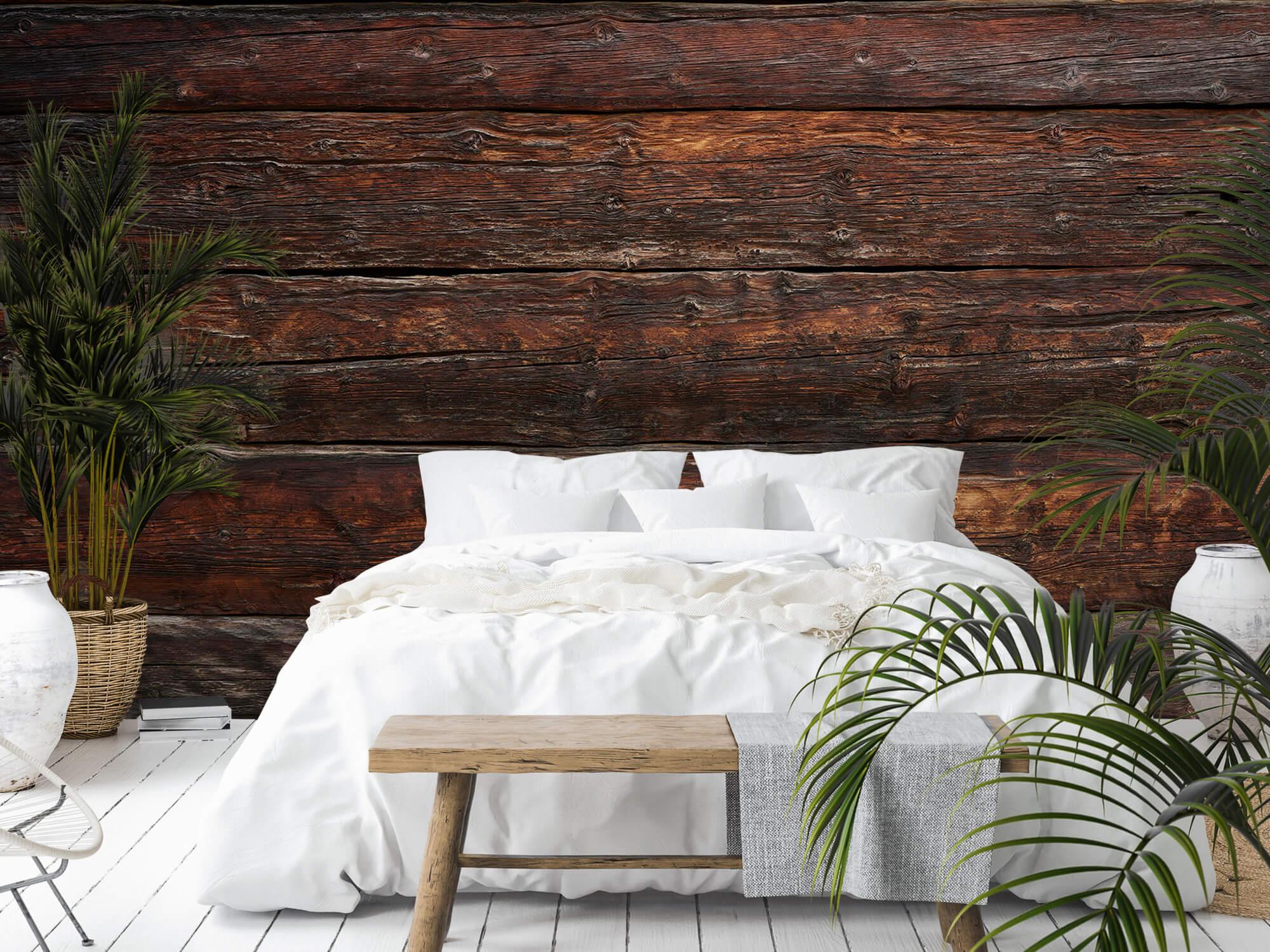 Wooden wallpaper - Coarse wood - Bedroom 9