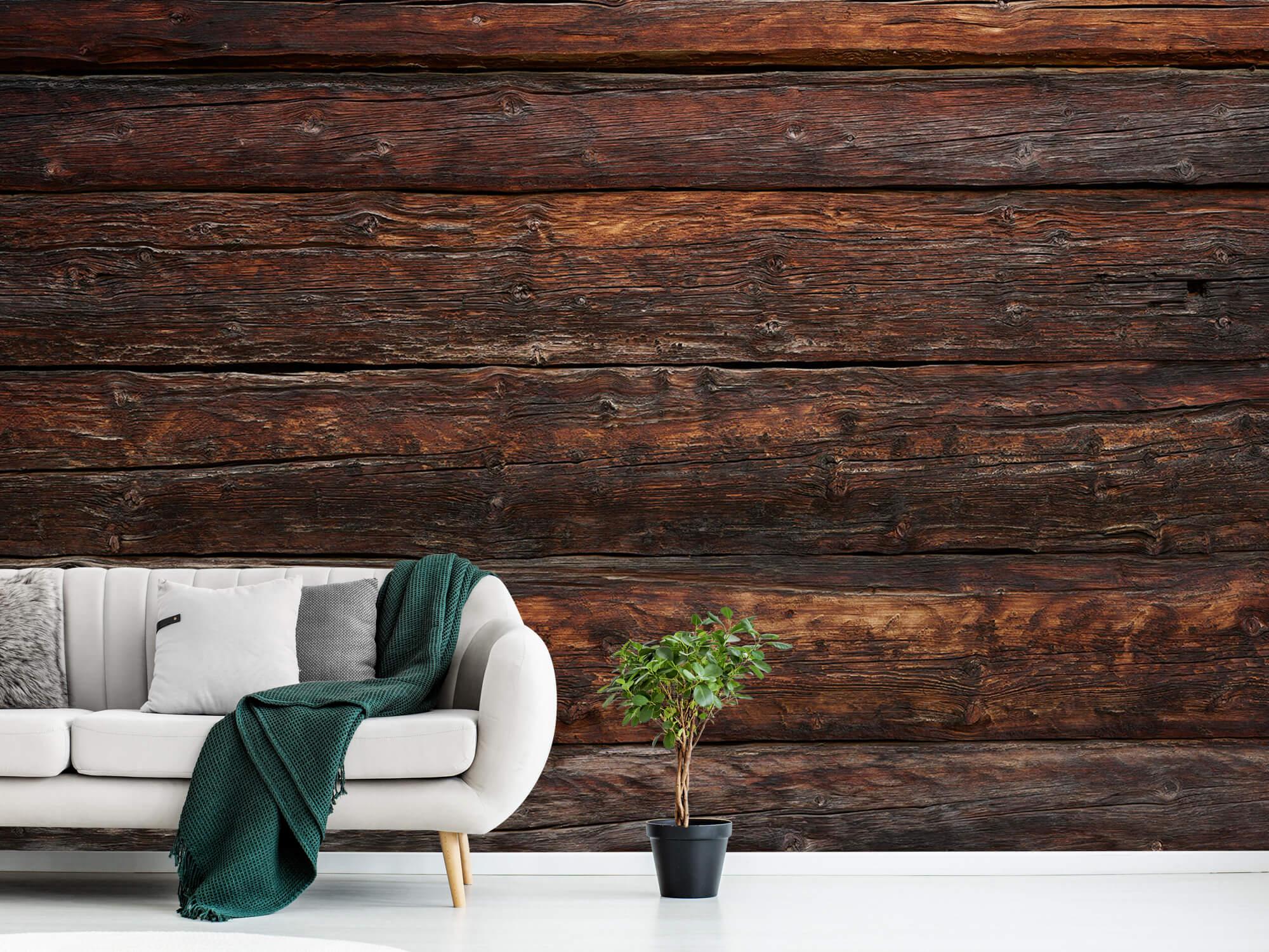 Wooden wallpaper - Coarse wood - Bedroom 8