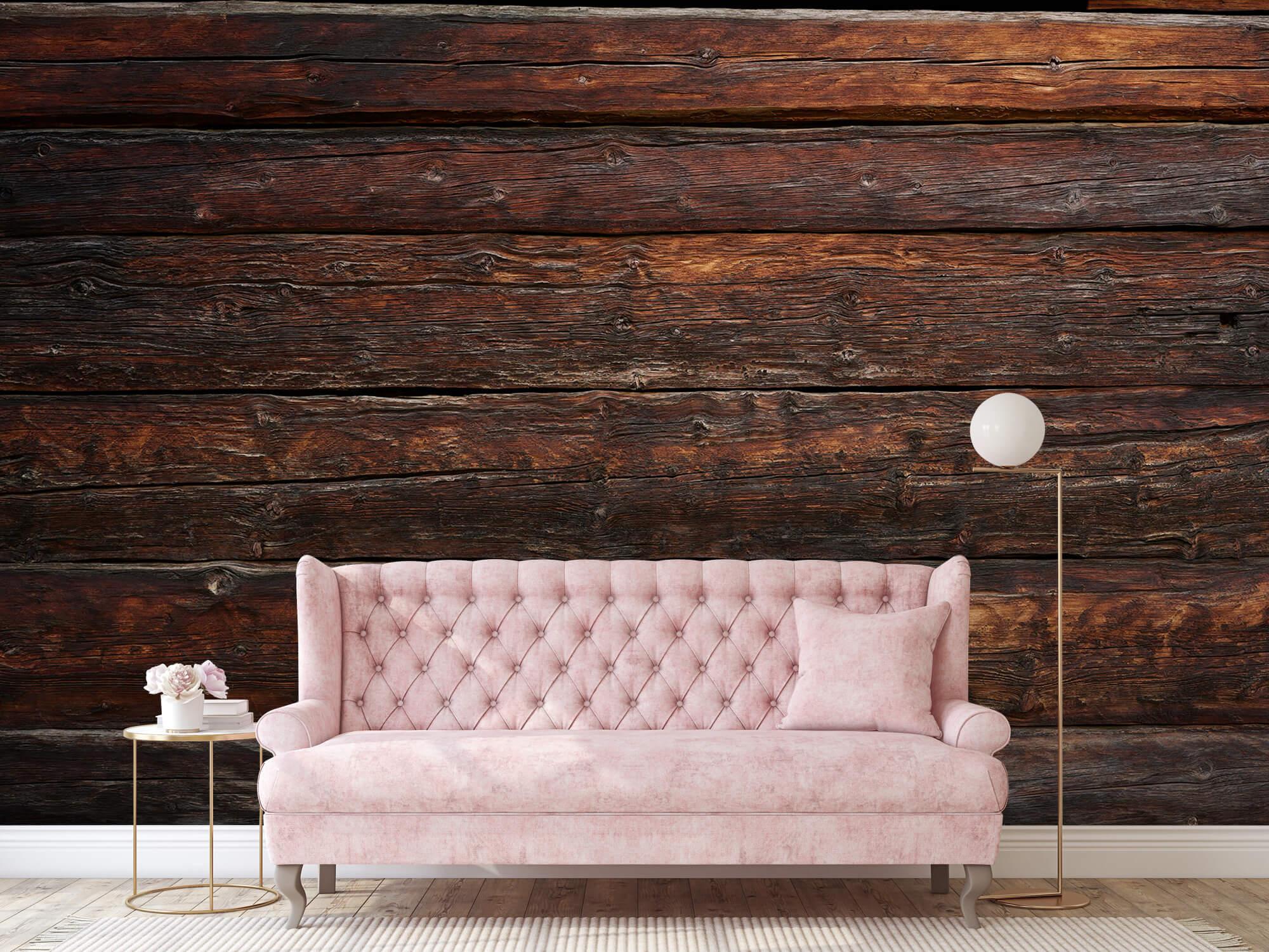 Wooden wallpaper - Coarse wood - Bedroom 7