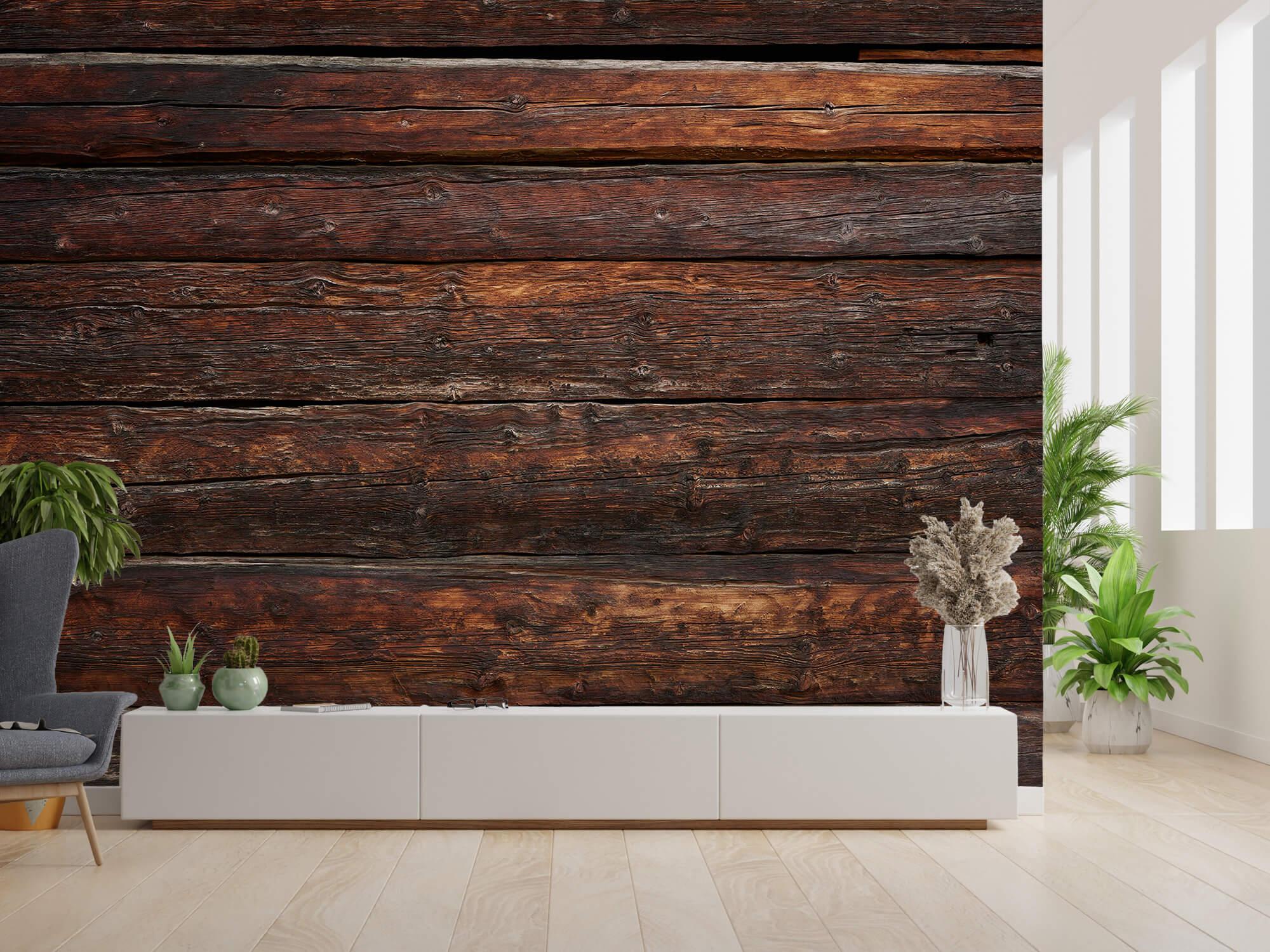 Wooden wallpaper - Coarse wood - Bedroom 2