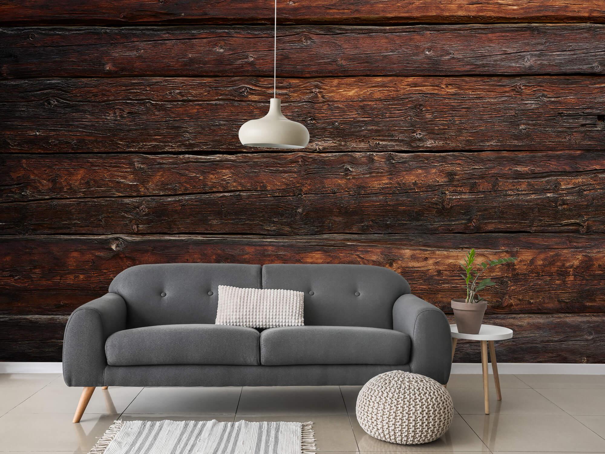 Wooden wallpaper - Coarse wood - Bedroom 3