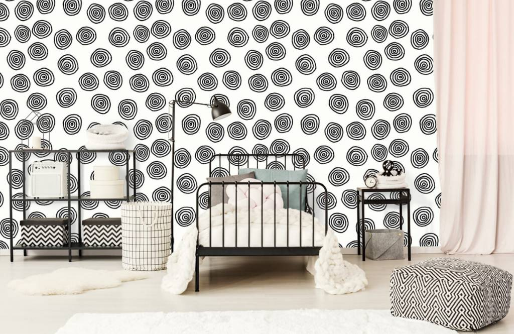 Abstract - Abstract circles in black and white - Hobby room 2