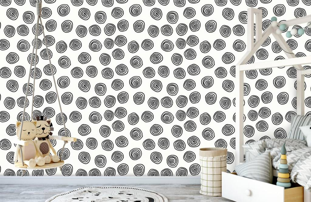 Abstract - Abstract circles in black and white - Hobby room 4