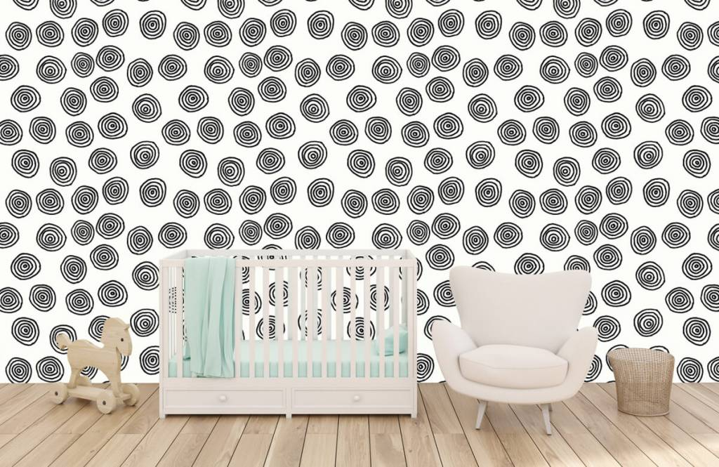 Abstract - Abstract circles in black and white - Hobby room 5